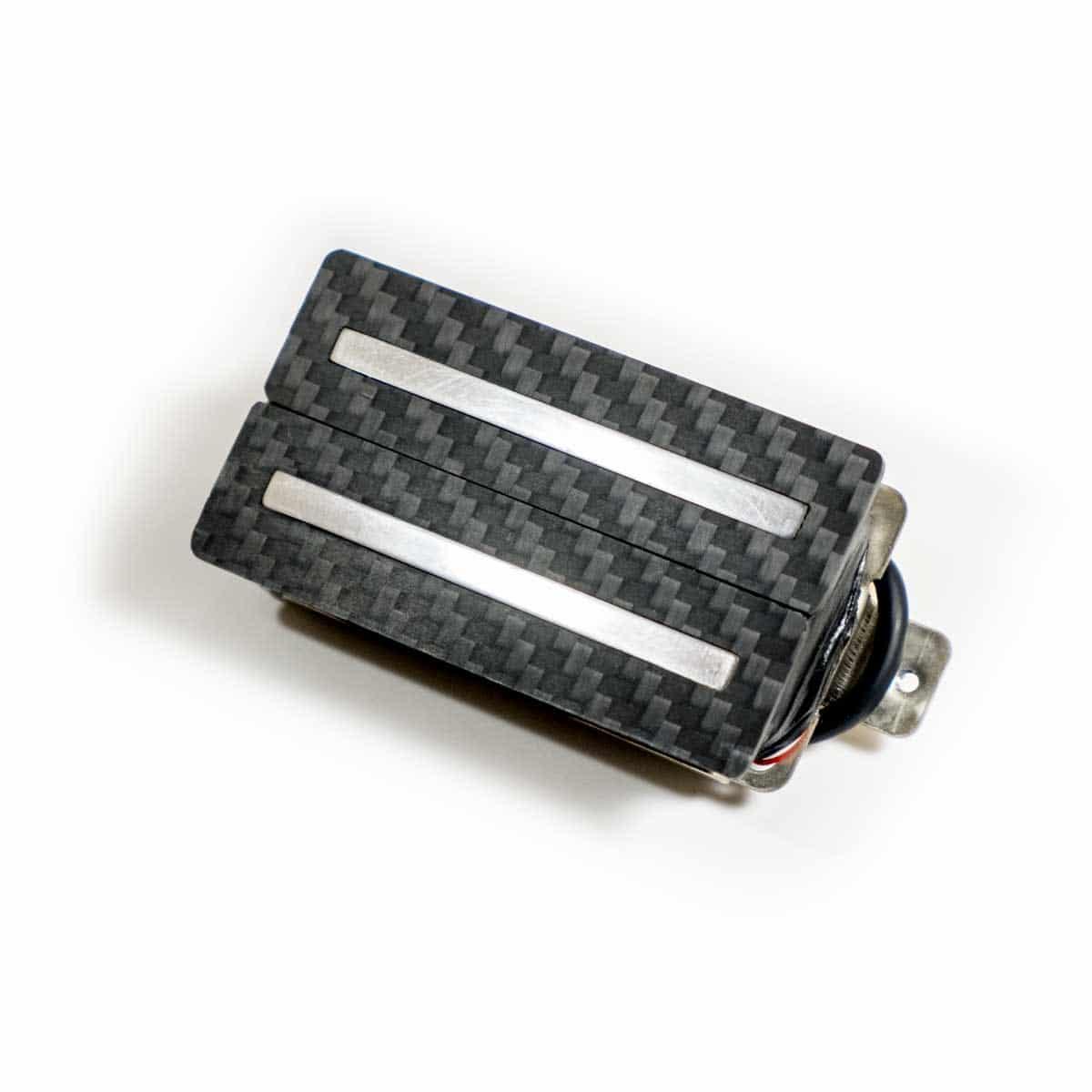 Micro rail humbucker fibre de carbone