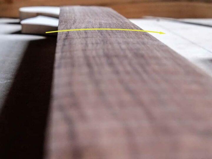 Qu'est-ce que le radius d'un manche de guitare électrique?