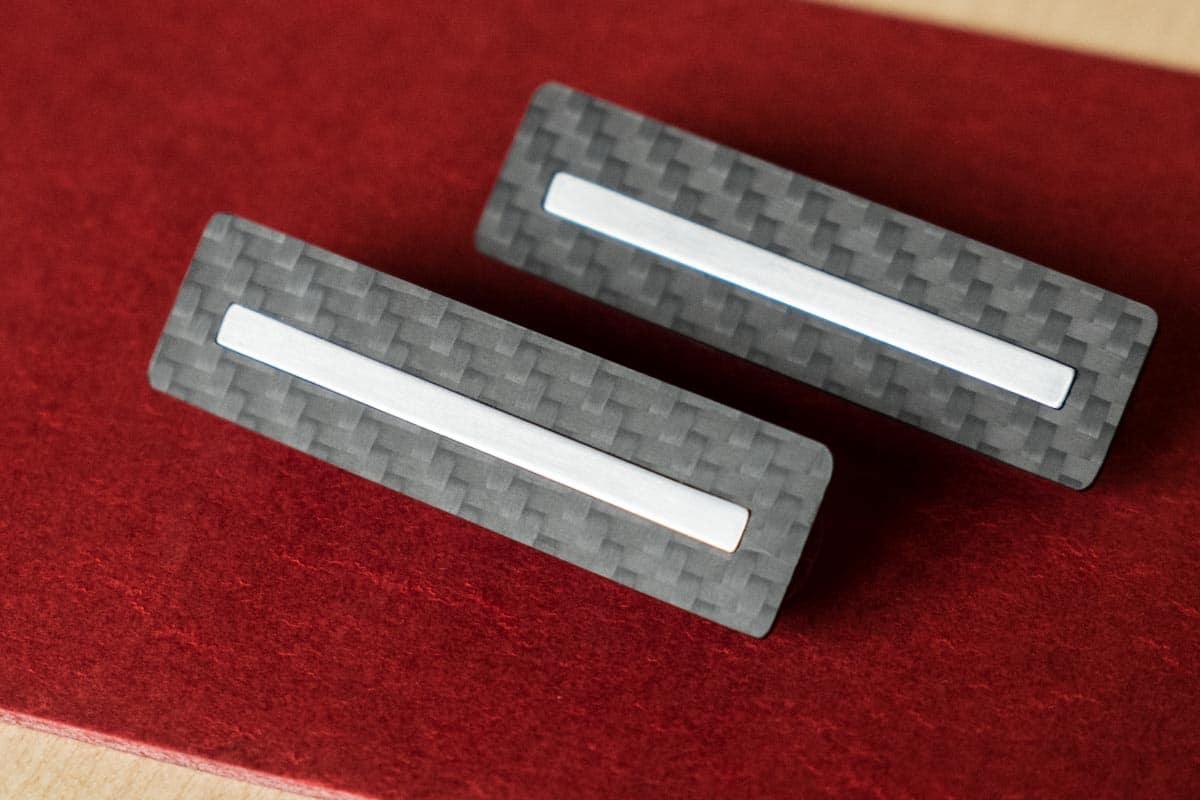 Bobines humbucker fibre de carbone acier