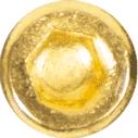 Vis humbucker P90 hexagonale doré