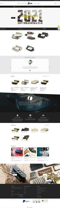 capture page d'accueil du site