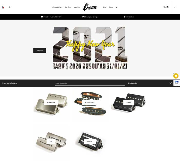 Nouveau site en ligne
