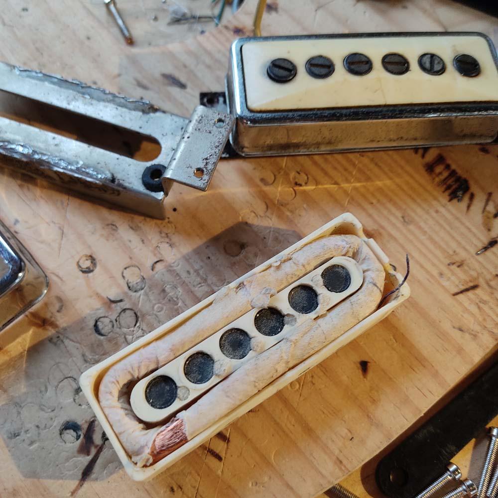 réparation micro guitare electrique