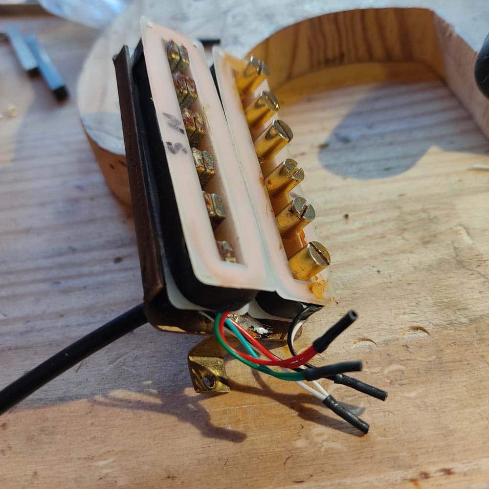 réparation micro guitare electrique humbucker maxon
